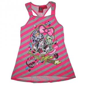 Monster High Girls Racerback Tank Top Shirt
